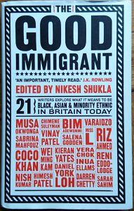 book cover from the good immigrant