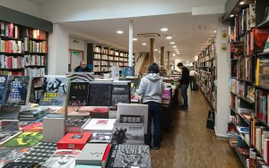 Bookshop viewed from inside