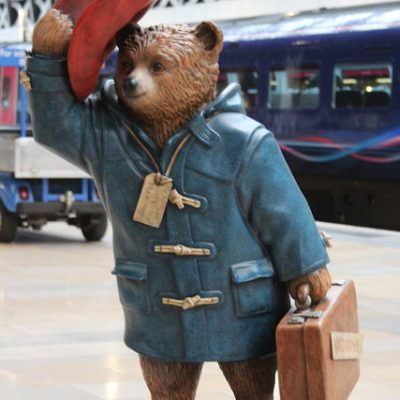 Literary Field Kaleidoscope | statue of Paddington Bear