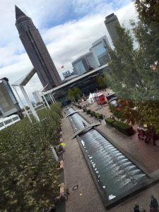 panoramic view of Frankfurt Book Fair