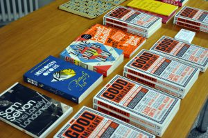 book table at the reading