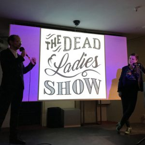 The hosts of the Dead Ladies Show: Katy Derbyshire and Florian Duijsens