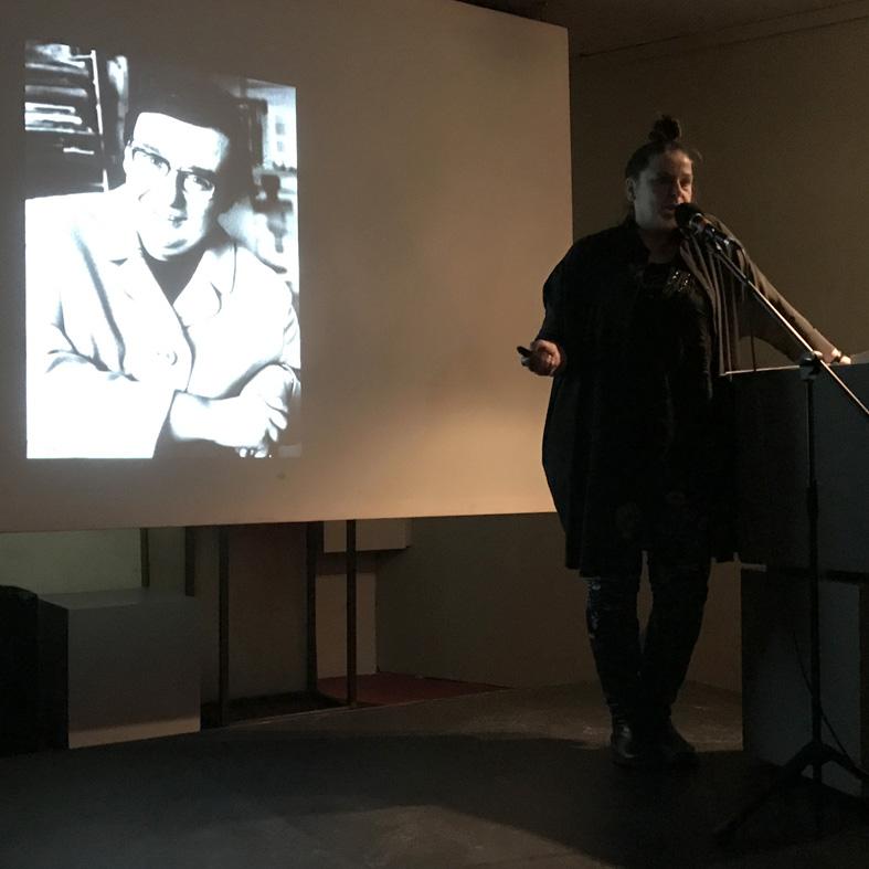 Annett Gröschner speaking about Christa Reinig