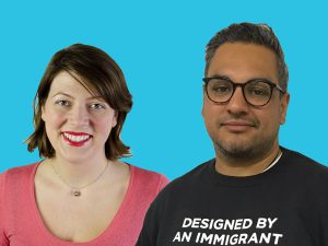 photo of Julia Kinglsey and Nikesh Shukla