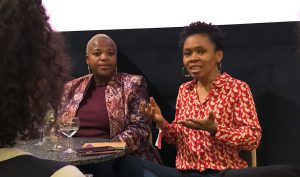 Zukiswa Wanner and Bibi Bakare-Yusuf in conversation