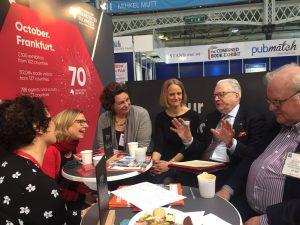 Welsh team meeting Frankfurt Bookfair people at LBF18