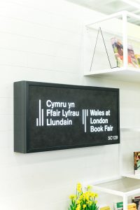 Welsh stand at London BookFair 2018