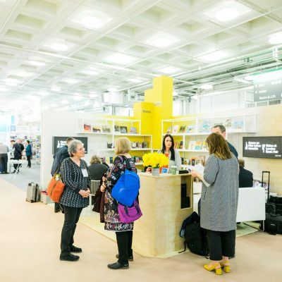visitors at London BookFair at the Welsh stand