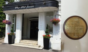 Old Swan Hotel and Agatha Christie plaque