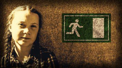 art work of Greta Thunberg portrait