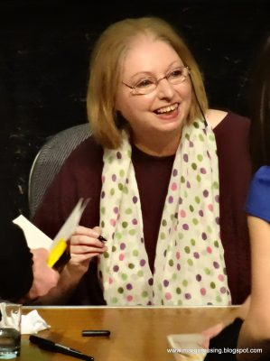 a colour portrait of writer Hilary Mantel in 2013