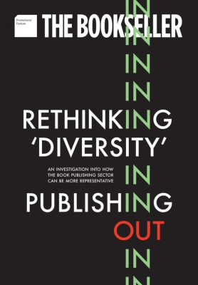 cover of the bookseller supplement about our research on rethinking diversity in publishing