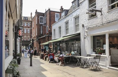 image of a small photo of a street in Hampstead, London