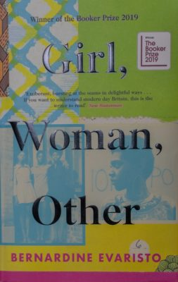 the book cover of Evaristo's novel Girl, Woman, Other