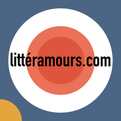 a multicoloured logo for the podcast littéramours