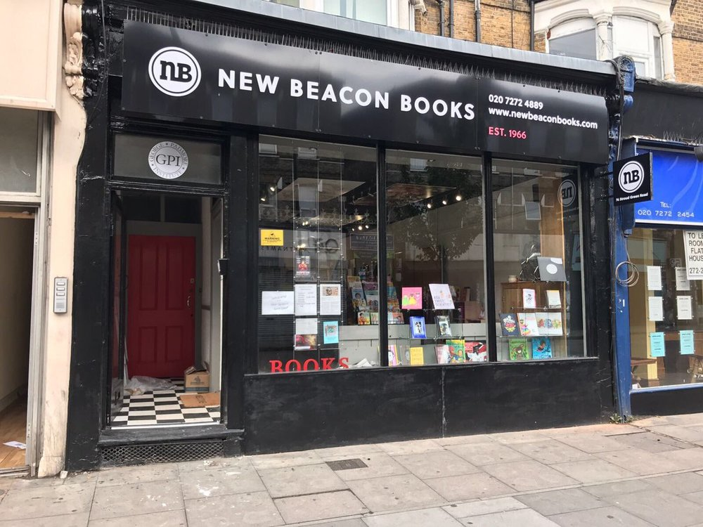 shop front of New Beacon Books in London