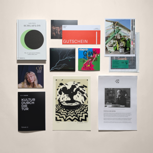 images of the books, art works etc. taken from the Kultur Post parcel